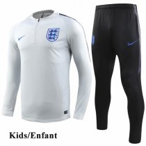 Kids 2018 England Gray White Tracksuit
