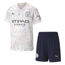20-21 Manchester City Third Soccer Jersey Kids Kit