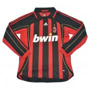 2006-2007 AC Milan Home Long Sleeve Retro Jersey