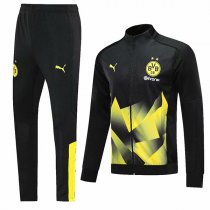 19-20 BVB Borussia Dortmund Black&Yellow Geometric Jacket Kit
