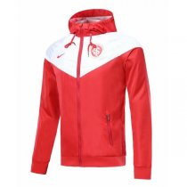 19-20 Internacional RS White&Red Hoodie Windbreaker