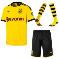 19-20 Borussia Dortmund Home Soccer Jersey Men Full Kit(Shirt+Short+Sock)
