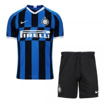 19-20 Intel Milan Home Soccer Jersey Men Kit(Shirt+Short)