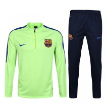 1617 Barcelona Fluorescent Green Sleeve Blue Tracksuit