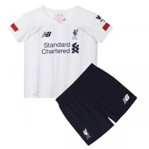 19-20 Liverpool Away White Soccer Jersey Kids Kit