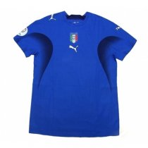 2006 Italy Home Blue Retro Soccer Jersey Shirt
