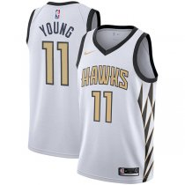 Atlanta Hawks Trae Young City Edition Swingman Jersey – White