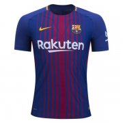 Barcelona 17/18 Home Authentic Soccer Jersey (Player Version)