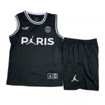 1819 Jordan X PSG Black Vest Jersey Kid Kit