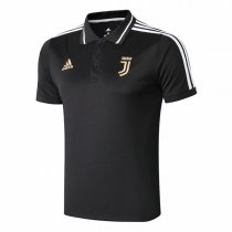 1819 Juventus All Black Polo Shirt