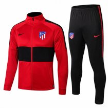 19-20 Atletico Madrid Red&Black High Neck Jacket Kit