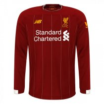 19-20 Liverpool Long Sleeve Home Soccer Jersey Shirt