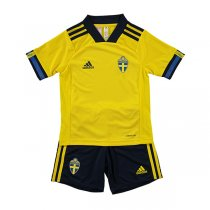 2020 Euro Cup Sweden Home Soccer Jersey Kids Kit