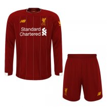 19-20 Liverpool Home Red Long Sleeve Jersey Men Kit(Shirt+Short)
