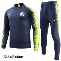 Kids 1819 Manchester City Navy Sleeve and pant Print Tracksuit