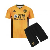 19-20 Wolves Home Yellow Jersey Kids Kit