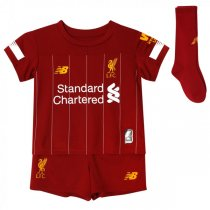 19-20 Liverpool Home Red Soccer Jersey Kid Full Kits