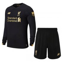19-20 Liverpool Long Sleeve Black Goalkeeper Jersey Kit (Shirt+Short)