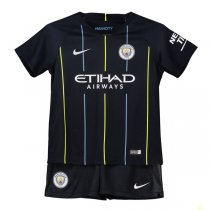 1819 Manchester City Away Soccer Jersey Kid Kit