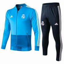 19-20 Real Madrid V-Neck Blue Jacket Kit