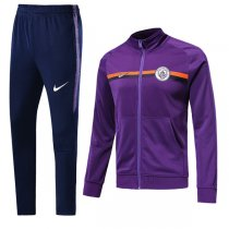 1819 Manchester City Purple Training Jacket Kit