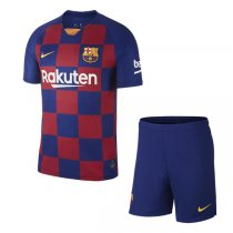 19-20 Barcelona Home Soccer Jersey Men Kit(Shirt+Short)