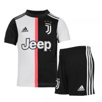 19-20 Juventus Home Soccer Jersey Kids Kit