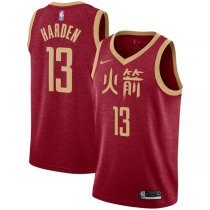 2018-2019 Houston Rockets James Harden Red Swingman Jersey – City Edition