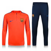 1617 Barcelona Orange Sleeve Blue Training Tracksuit