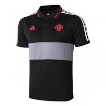 2019 Manchester United Black&Gray Polo Shirt