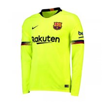 1819 Barcelona Away Long Sleeve Soccer Jersey Shirt