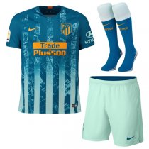 1819 Atletico Madrid Third Soccer Jersey Full Kit(Shirt+Short+Sock)