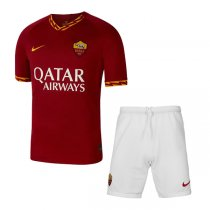 19-20 AS Roma Home Soccer Jersey Men Kit(Shirt+Short)