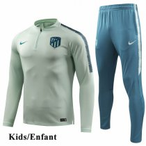 Kids 1819 Atletico Madrid Green Tracksuit