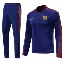 1819 Barcelona Blue Sleeve Red Training Jacket Kit