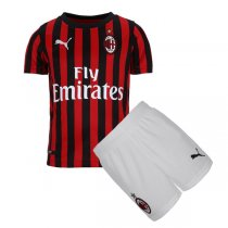 19-20 AC Milan Home Soccer Jersey Kids Kit