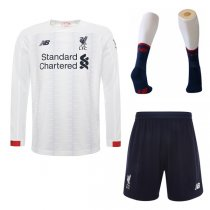 19-20 Liverpool Away long Sleeve Soccer Jersey Men Full Kit(Shirt+Short+Socks)