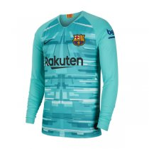 19-20 Barcelona Blue Long Sleeve Goalkeeper Soccer Jersey Shirt