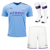 19-20 Manchester City Home Jersey Men Full Kit(Shirt+Short+Socks)