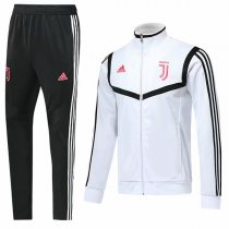 19-20 Juventus White High Neck Jacket Kit