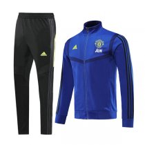 19-20 Manchester United Blue High Neck Jacket Kit