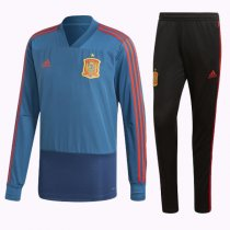 2018 Spain World Cup V Neck Training Suit