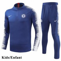 Kids 1819 Chelsea Blue Sleeve And Pant Print Tracksuit