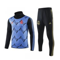 19-20 Real Madrid Blue High Neck Training Suit