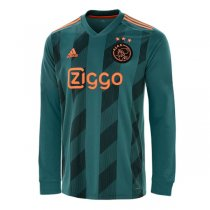 19-20 Ajax Away Soccer Long Sleeve Soccer Jersey Shirt