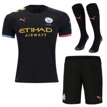 19-20 Manchester City Away Jersey Men Full Kit(Shirt+Short+Socks)