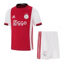 19-20 Ajax Home Soccer Jersey Kids Kit