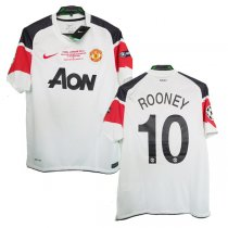 2010-11 Manchester United Away UCL Final ROONEY #10 Shirt