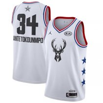 Milwaukee Bucks Giannis Antetokounmpo #34 White NBA Jordan Swingman 2019 All-Star Jersey