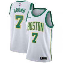 2018-2019 Boston Celtics Jaylen Brown White Swingman City Edition Jersey